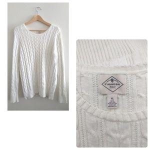 St. John's Bay White Knit Sweater